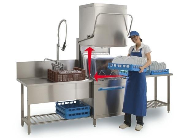 cách hoạt động máy rửa bát công nghiệp
