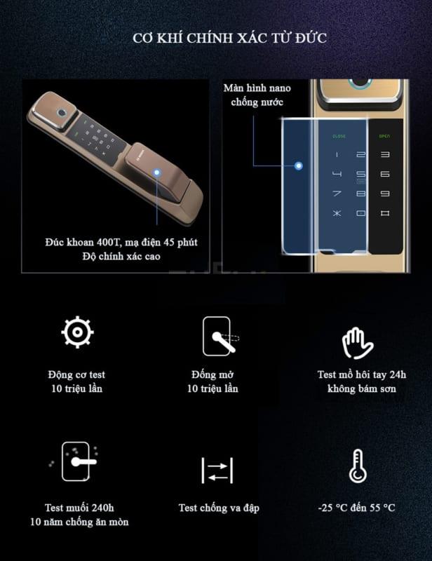 Đặt điểm thiết kế cửa vân tay Bosch FU550
