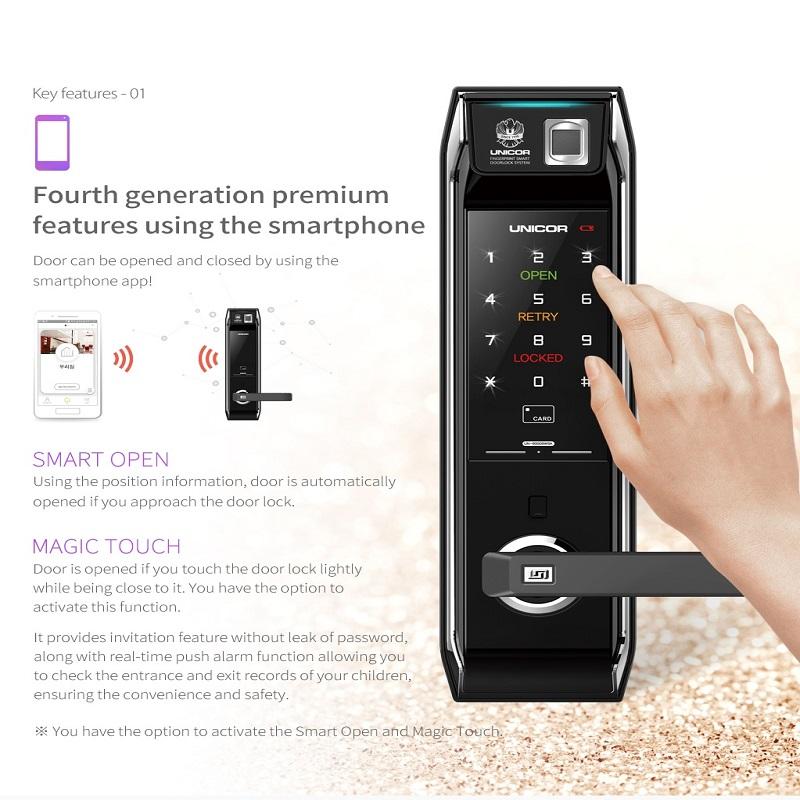 Mở khóa bằng ứng dụng trên Smartphone qua cổng Bluetooth