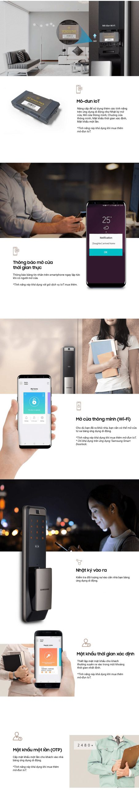 Mở khóa bằng ứng dụng trên smartphone qua kết nối wifi
