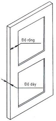 Yêu cầu về độ dày, rộng của đố cửa lắp khóa cửa vân tay