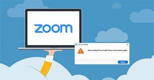 Lỗi invalid trên Zoom